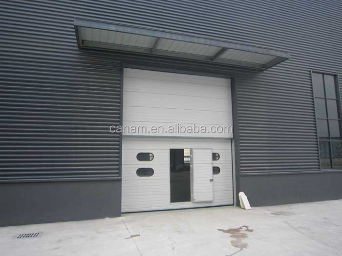 Industrial automatic fast rolling shutter sectional garage door for warehouse