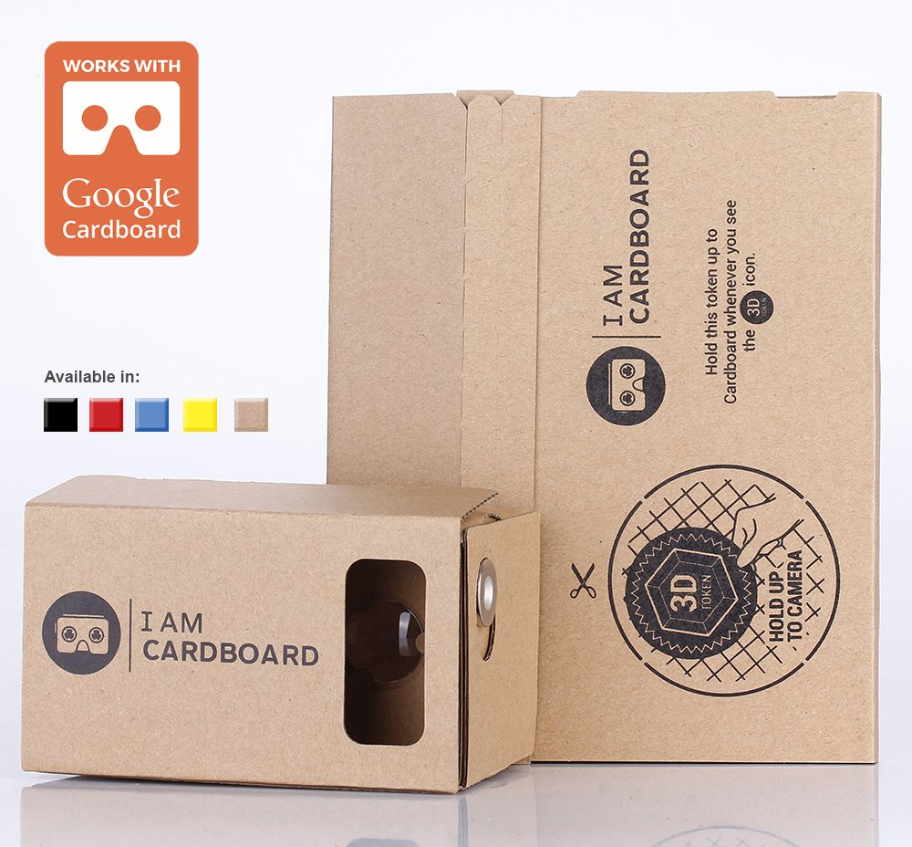 b5d46f5bb2 Get Quotations · I AM CARDBOARD 45mm Focal Length Virtual Reality Google  Cardboard with Printed Instructions and Easy to