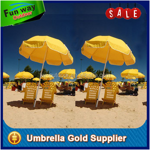 UPF 50+ Sun Protection Best Beach Umbrella for Wind