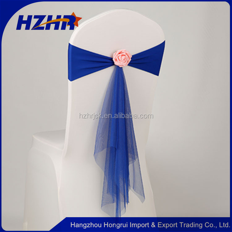 Wedding Decoration Band Sashes with Buckle New Satin Chair Sash Bow ties