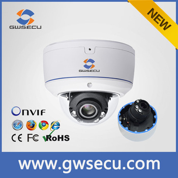GWSECU 2.8-12mm varifocal 3mp WDR best count people face detection ip camera
