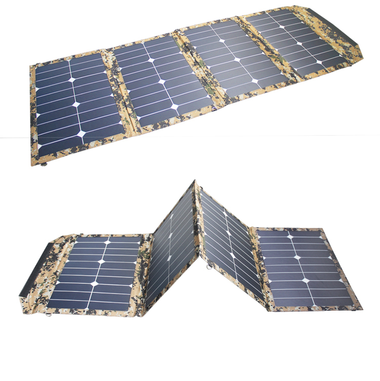 High Quality 80W Solar Panel Charger USB and DC Output For Mobile Phone Laptop