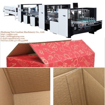 GK-AC Corrugated Cardboard Packaging Box Making Machine with Crash Bottom Lock