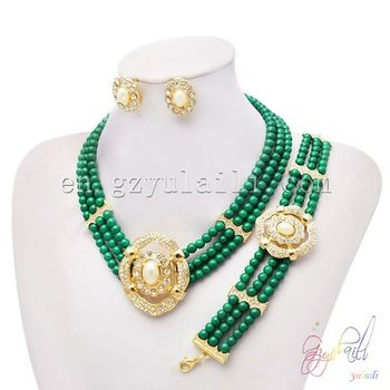 Dubai 1 Gram Gold Jewellery Wholesale Beads Jewelry Set Imitation