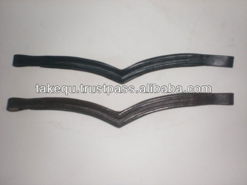 Leather channel Browbands