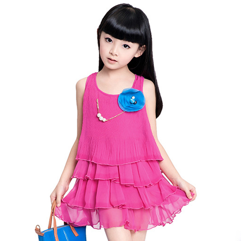 Flower Girls Dresses For Party And Wedding Cotton Baby Girls Dress Fashion Brand Girls Dress 2015 Children Dresses Girls Princes