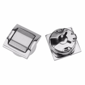 Silver shiny blank square metal button covers for suit