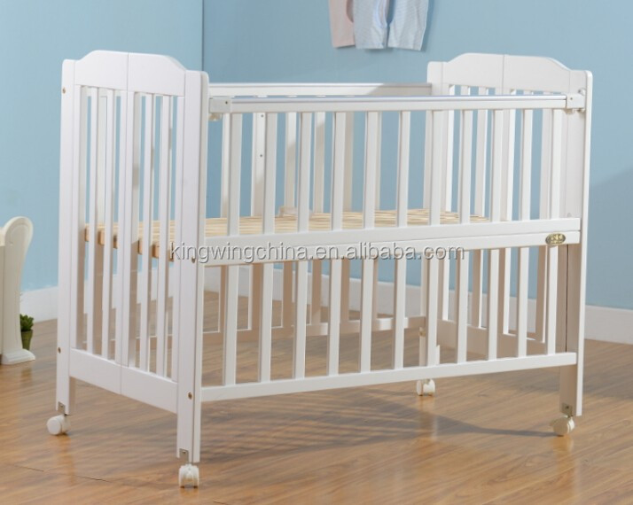 Solid Nz Timber Folding Baby Cot Bed