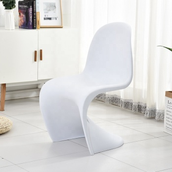 salle a manger modern z shape white dining chair hard plastic chairs for restaurant
