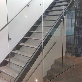 Steel Structure Modern Stair Case/ Modular Straight Steel Staircase