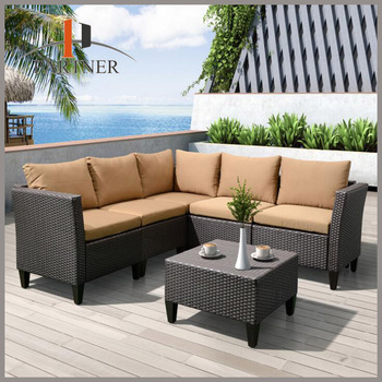 Nice Wholesale Hobby Lobby Garden PE Rattan Outdoor Sofa Furniture