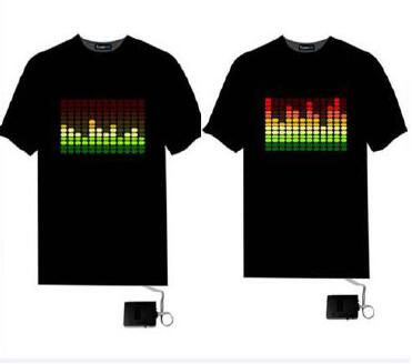 Wholesale Sound Activated Led T-shirt