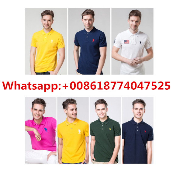 2018 Hot Promotion black plain polo shirts for men checked Europe custom t shirt with logo
