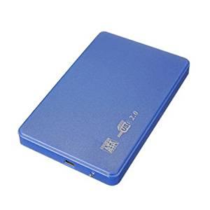 "hard disk case - TOOGOO(R)SATA USB 2.0 SATA 2.5"" HD HDD HARD DISK DRIVE ENCLOSURE EXTERNAL CASE BOX blue"