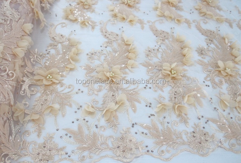 New design fabric tulle wholesale flower hand
