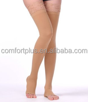 Open toe 23-32mmHg Thigh high compression stocking