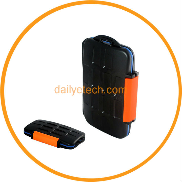 4 CF 8 XD 8 SD Cards MC-4 Memory Card Holder Case from Dailyetech