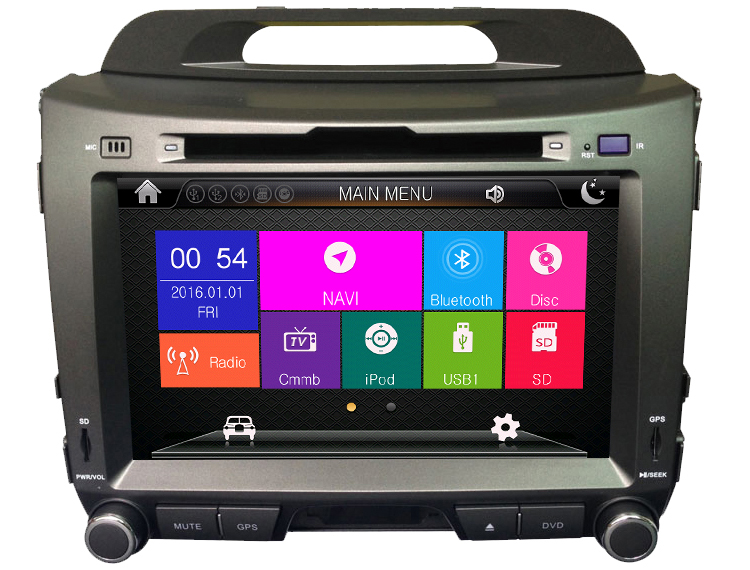 Wince GPS for Sportage Navigation System with BT DVD Player