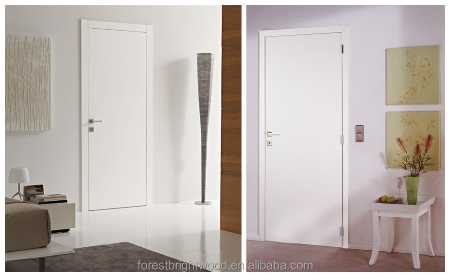 Hot sale white wooden flush interior doors buy interior for Wood doors painted white