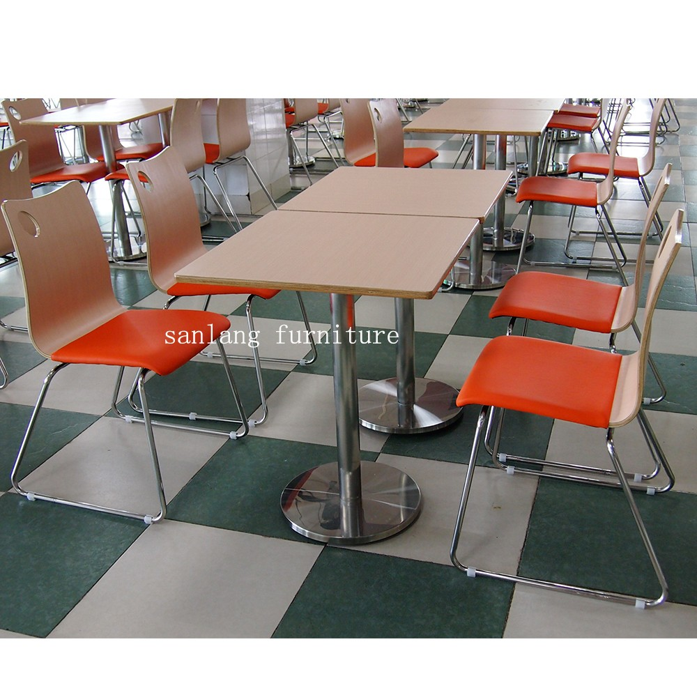 stackable seating bent plywood dining chair seat with steel leg
