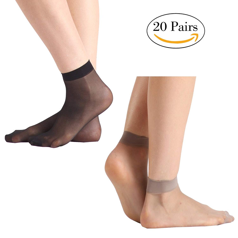 29823b2fea Get Quotations · Dress Socks For Women, INCHER Women Low Cut Socks Sheer  Short Socks Dress Silk Women