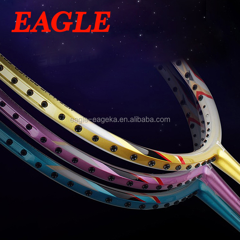 WHOLESALE cheap full carbon EAGLE brand badminton racket E102 with durable string