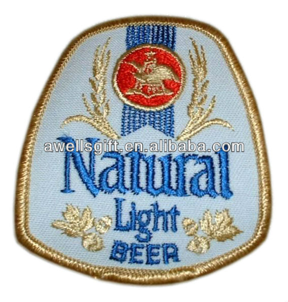 Embroidered Anheuser Busch NATURAL Light Beer patch