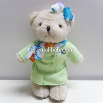 94794446cba CustomKids Educational Promotional Gift Uniform Clothes Mini Plush Teddy  Bear Toy