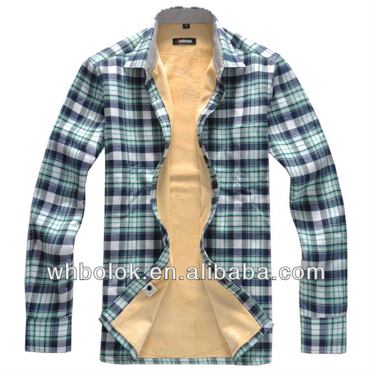Chemises Fourrure Collé Épais Carreaux En Buy Flanelle Oem À Hiver Doublé Chemise Chaud Homme Polaire ygf6bY7