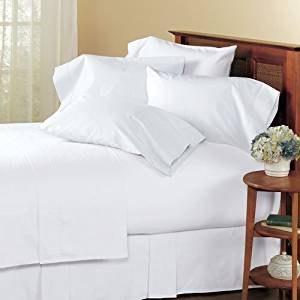 """SRP Linen 100-Percent Cotton Percale 600-Thread-Count Super Soft Hotel Bed Sheet Set With Bonus Pillowcases Emperor/Wyoming King Solid White Fit Up to 19"""" inches Extra Deep Pocket with Heavy Fabric With Wholesale Price"""