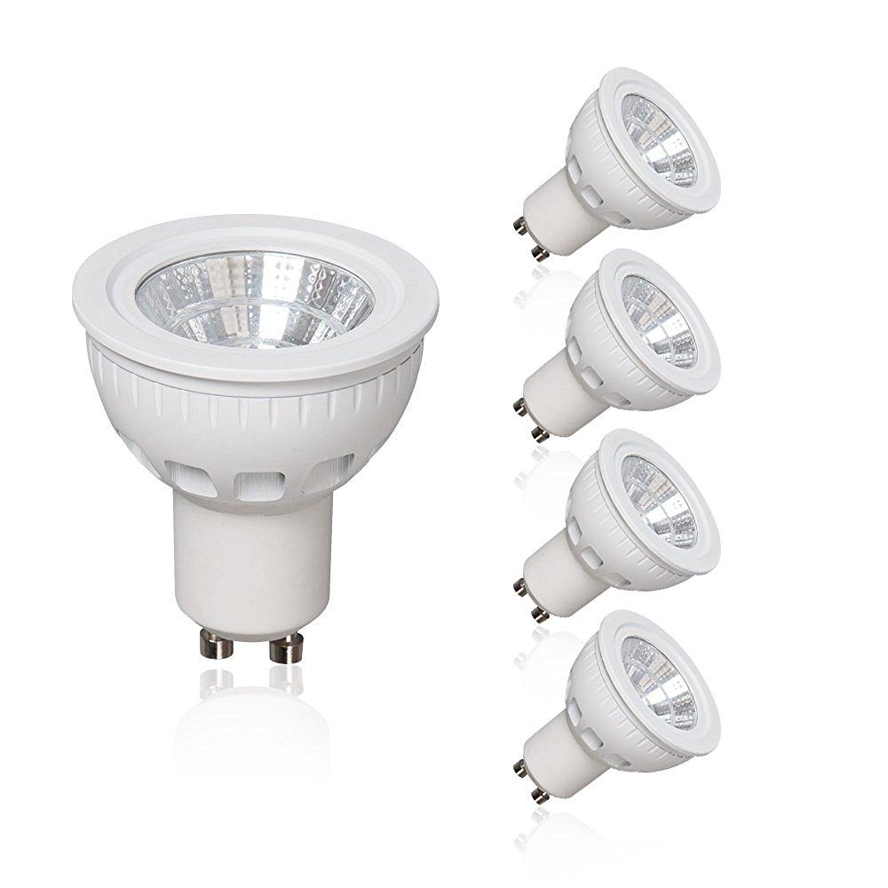 LAMPAOUS 12V MR16 LED Light Bulbs,5W GU5.3 Landscape Indoor Bulb,50W Halogen Bulb,3000K Warm White Lamp,450lm Soptlight led Recessed Ceiling Light,Downlight Tracking Lighting,4 Pack