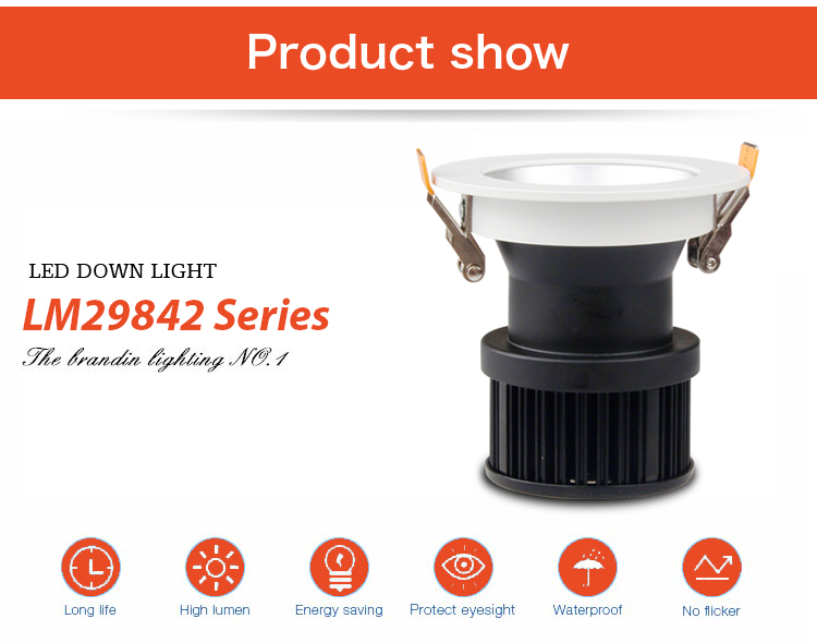 commercial illumination adjustable led downlights anti-dazzling white milky for wholesale-6
