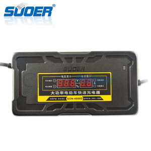 Suoer Factory high power portable car fast charger 48V electric bike lead acid battery charger