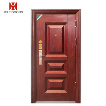 Apartment China Metal Entry Steel Custom Made Commercial Security Doors Systems