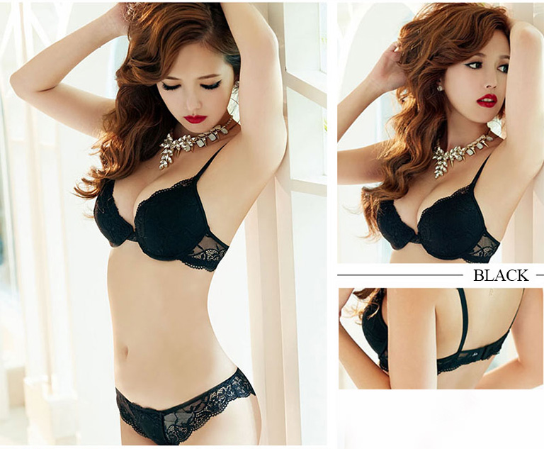 2019 fashion women underwire soft sexy bra set lace pattern temptation underwear