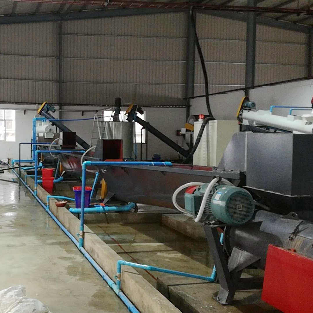 GUANGZHOU PET recycling machine/plastic HDPE bottle crushing washing line