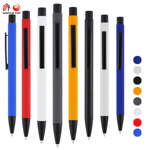 promotional logo ballpoint metal pen with logo for gift