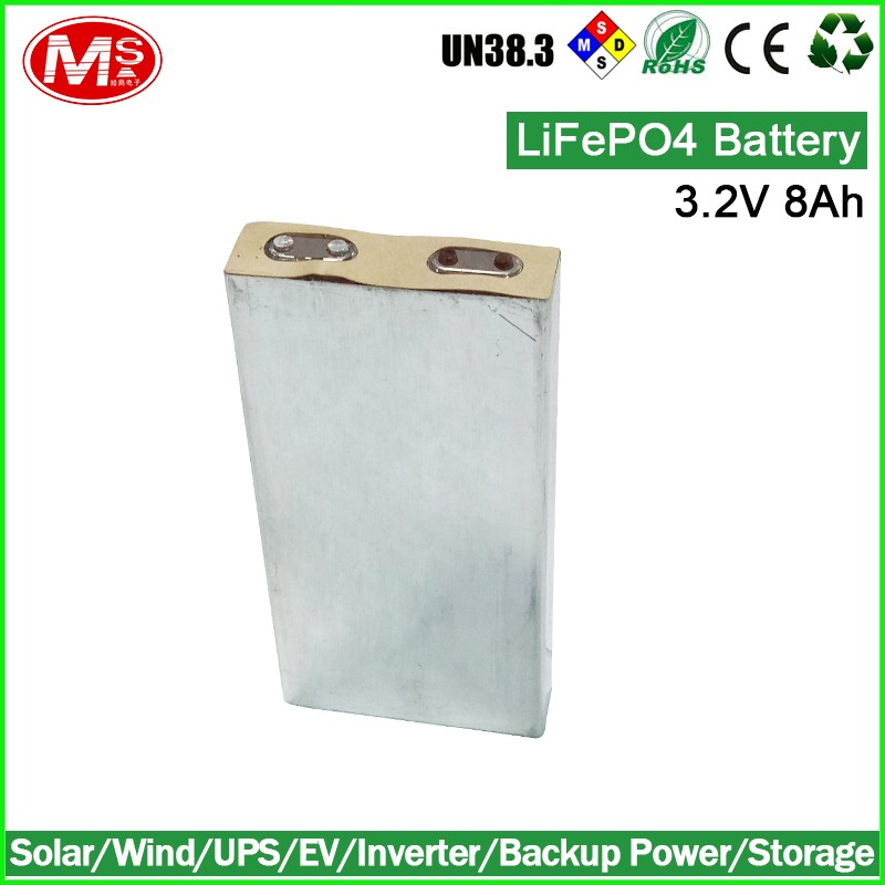 China battery supplier lifepo4 battery cell 3.2v 8Ah