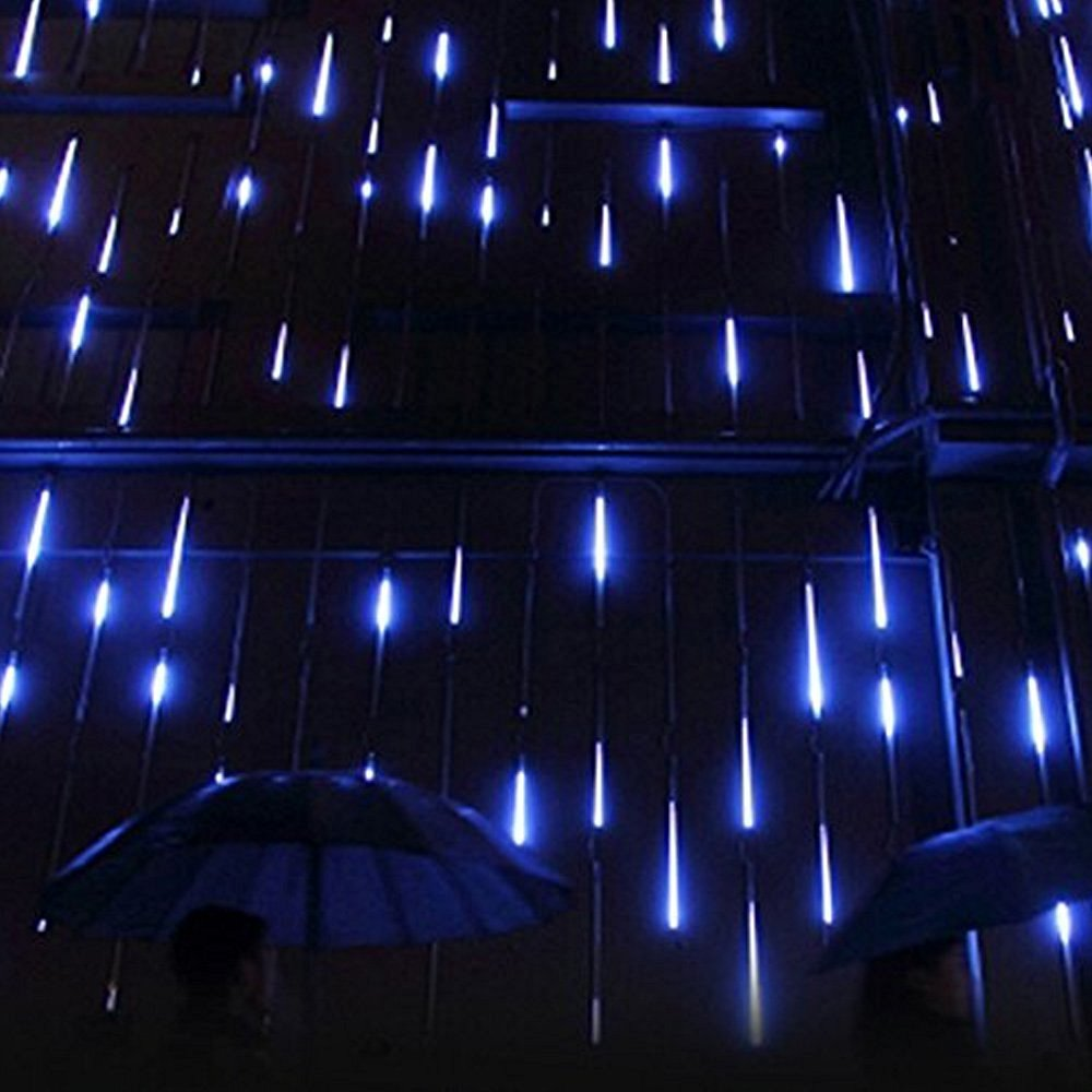 get quotations tanbaby 30cm 8 tubes 144led meteor shower rain tubes snowfall led light for christmas tree garden