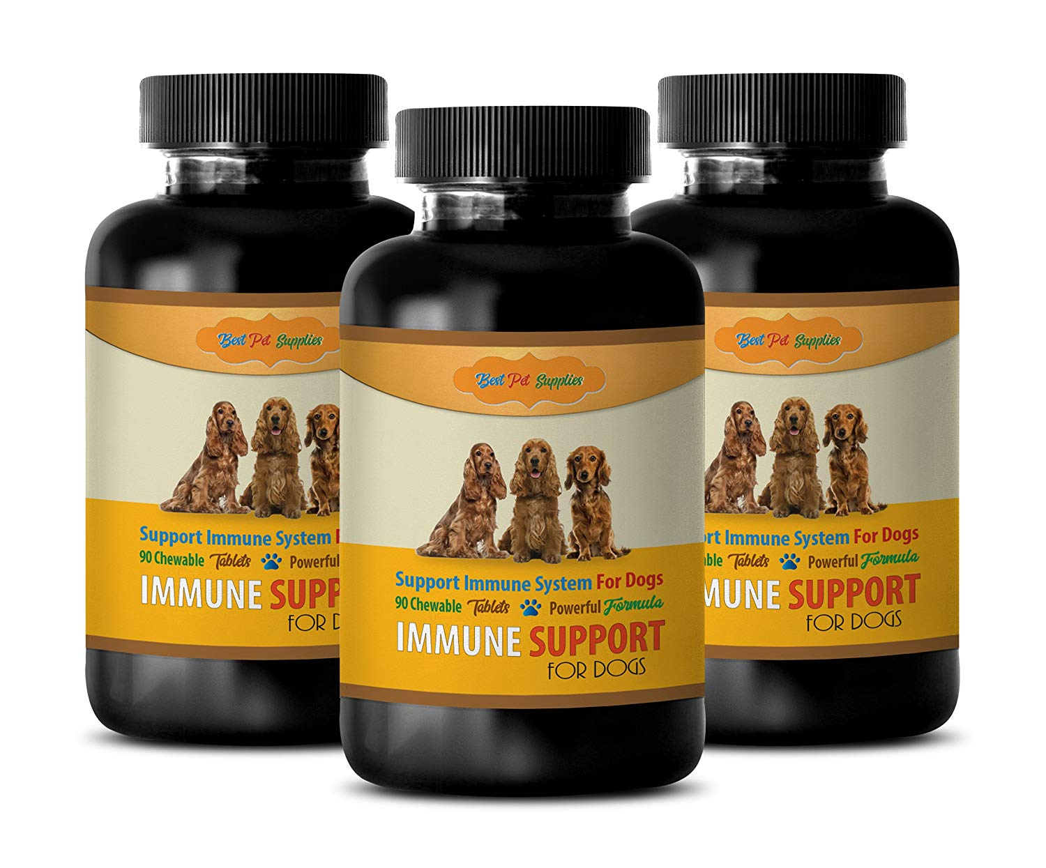 Dog Heart Health - Premium Immune System Support Complex - for Dogs - Chewy Treat Formula - ashwagandha for Dogs - 270 Chews (3 Bottle)