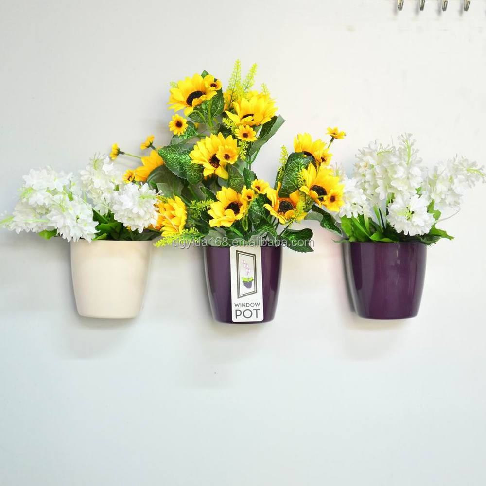 Removable artificial flower pot plastic,flower pot plastic,flower pot