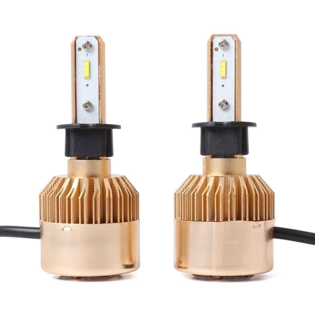 Xuanhemen 2Pcs 6500K Super Bright S2-TX 36W Gold Car LED Headlight Bulbs Lamps Light for Socket H1/H3/H7/H11/9005/9006