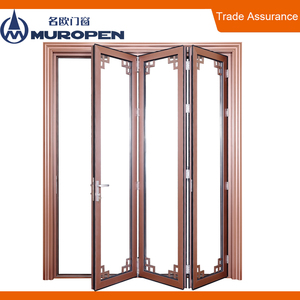 Aluminium wooden folding door price malaysia glass folding door shenzhen