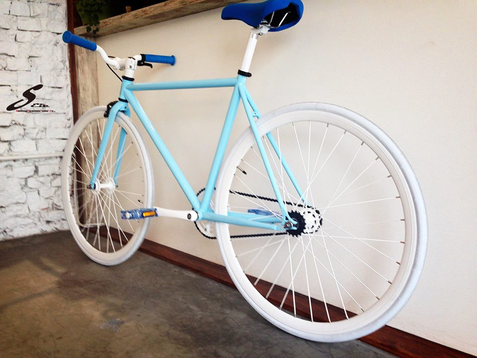 700c Blue Fixie Frame Taiwan Made Bicycle Parts Fixed Gear Bike