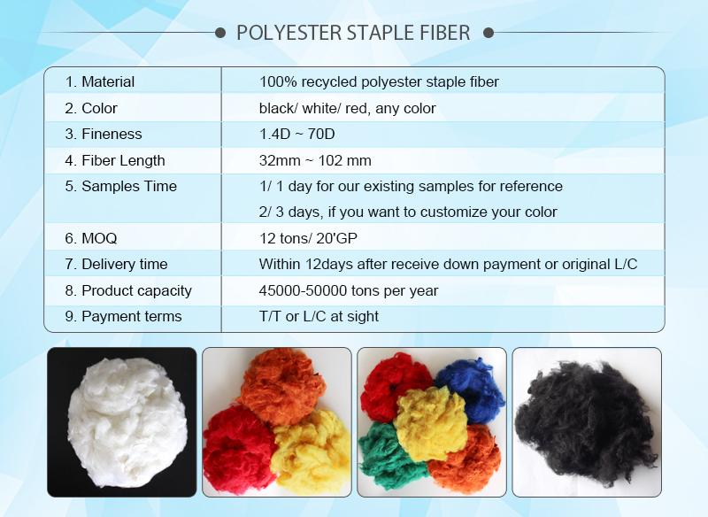 1.Polyester staple fiber