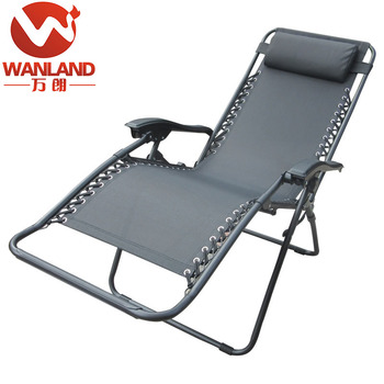 Patio Leisure Zero Gravity Chaise Lounge Chair Sleeping Chair With
