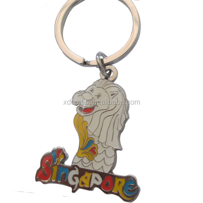 Custom Metal Singapore Merlion Keychain As Souvenirs Gifts