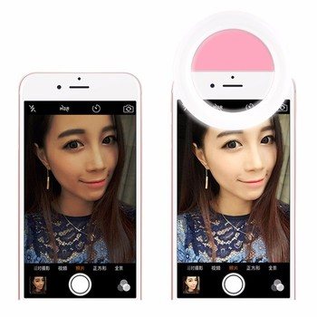Rechargeable Salfie Ringlight Phone Accessary Led Flashing For Camera Phone, Ring Selfie Flash Light,