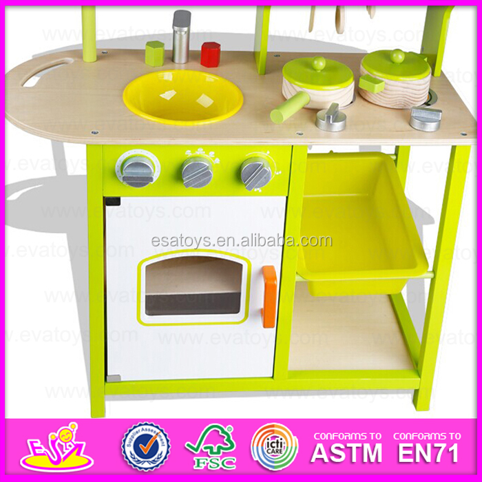 2015 pretend kitchen toy play kitchen set diy wooden for Kids kitchen set sale