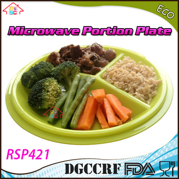 Go Healthy Portion Control plastic ided Dinner Plates and Weight Loss Adult compartment microwave Portion Plates  sc 1 st  Alibaba & Go Healthy Portion Control Plastic Divided Dinner Plates And ...